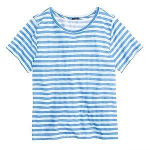 J.Crew Linen Swingy Stripe T-shirt